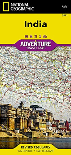 9781566955966: India (National Geographic Adventure Map)