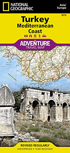 9781566956123: Turkey: Mediterranean Coast (National Geographic Adventure Map)