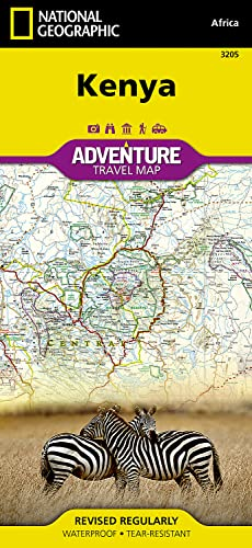 9781566956185: Kenya (National Geographic Adventure Map)
