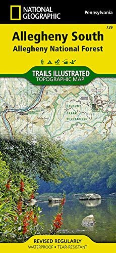 9781566956321: Allegheny South [Allegheny National Forest] (National Geographic Trails Illustrated Map)