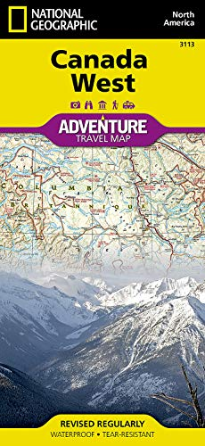 Canada West (Folded): National Geographic Maps