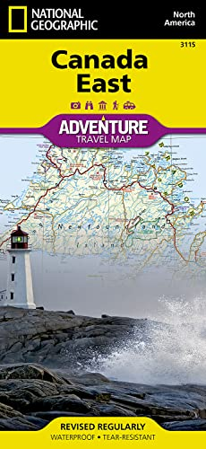 Canada East: Travel Maps International Adventure Map: National Geographic Maps