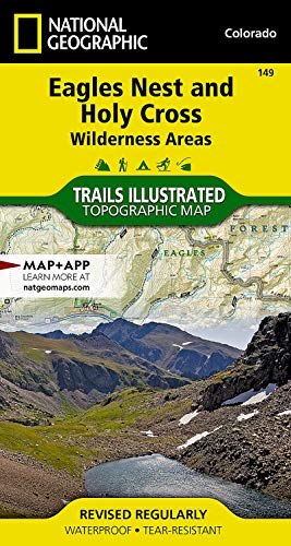 9781566956697: Eagles Nest and Holy Cross Wilderness Areas (National Geographic Trails Illustrated Map)