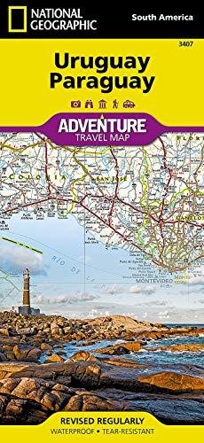 9781566957595: Uruguay, Paraguay (National Geographic Adventure Map (3407))