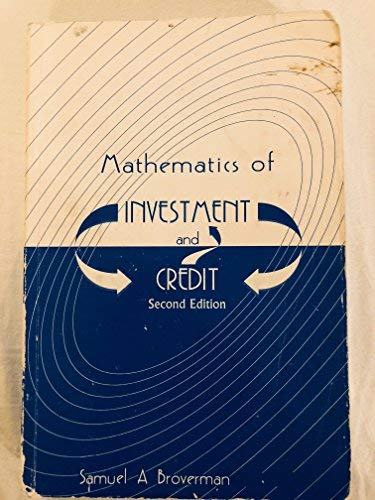 9781566982184: Mathematics of Investment and Credit
