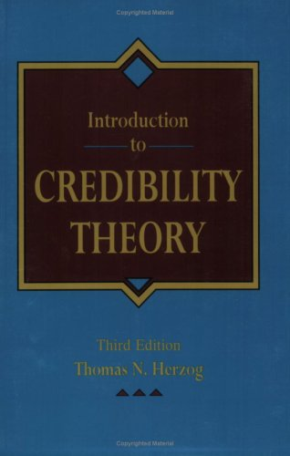 9781566983747: Introduction to credibility theory