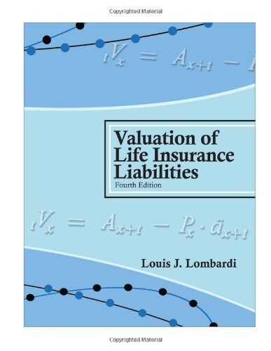 Valuation of Life Insurance Liabilities: Establishing Reserves: Louis J. Lombardi