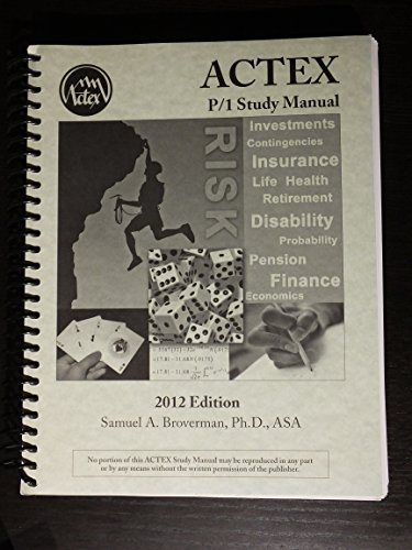 cover of ACTEX P Study Manual