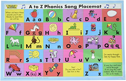9781567046229: A TO Z PHONICS SONG PLACEMAT SECOND EDITION SING SPELL READ AND WRITE