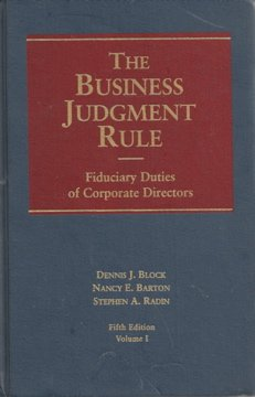 9781567063271: The Business Judgment Rule: Fiduciary Duties of Corporate Directors vol. I & II