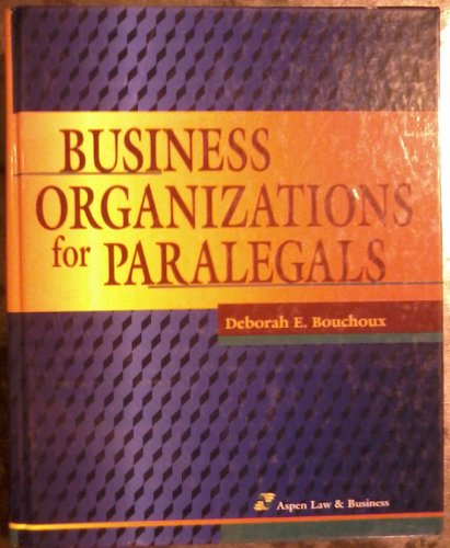 9781567064841: Business Organizations for Paralegals