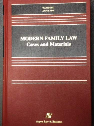 9781567067019: Modern Family Law: Cases and Materials (Casebook S.)