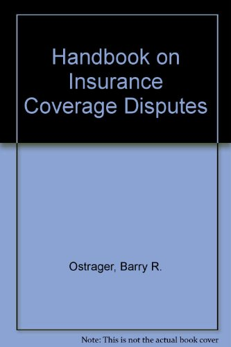 9781567067224: Handbook on Insurance Coverage Disputes