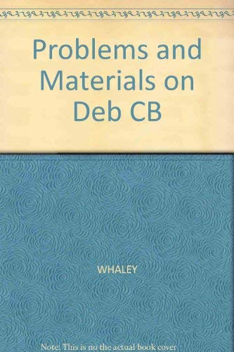 Problems and Materials on Debtor and Creditor Law (9781567067323) by Douglas J. Whaley; James W. Shocknessy; Jeffrey W. Morris