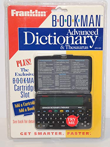 9781567121292: Merriam-Webster Advanced Dictionary & Thesaurus: BOOKMAN(R) (Electronic pocket model)