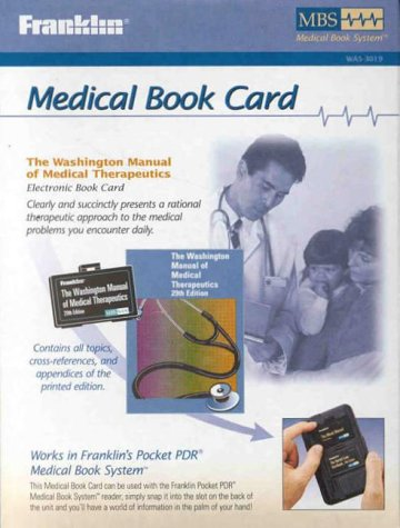 The Washington University Manual of Medical Therapeutics (1567125255) by Franklin