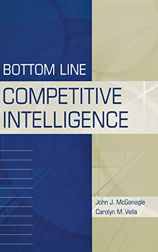 Bottom Line Competitive Intelligence: McGonagle, John J., Vella, Carolyn M.