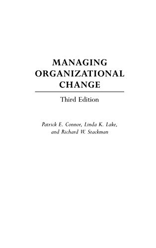 9781567205091: Managing Organizational Change, 3rd Edition