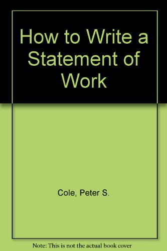 9781567260823: How to Write a Statement of Work