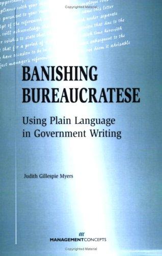 9781567261011: Banishing Bureaucratese: Using Plain Language in Government Writing