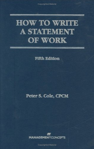 9781567261486: How to Write a Statement of Work