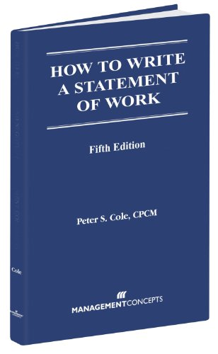 9781567261493: How to Write a Statement of Work