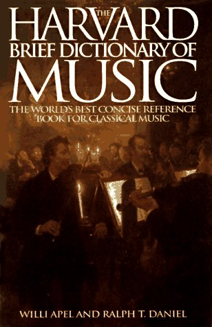9781567310979: Harvard Brief Dictionary of Music Dictionary