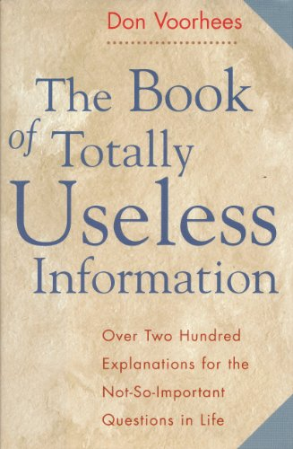 9781567312669: Book of Totally Useless Information