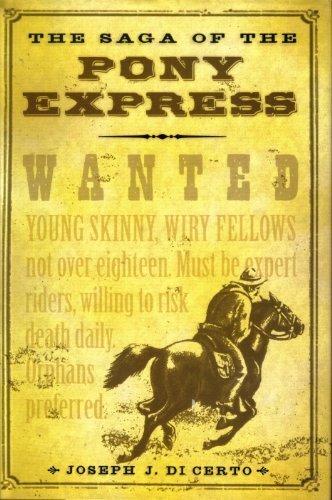 9781567318265: The Saga Of The Pony Express