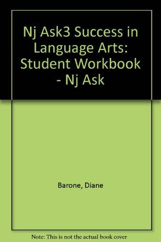 Nj Ask3 Success in Language Arts: Student: Barone, Diane, Kane,