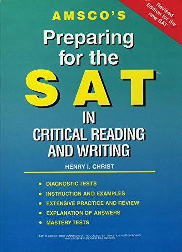 Preparing for the SAT: Reading and Writing (1567651240) by Henry I. Christ