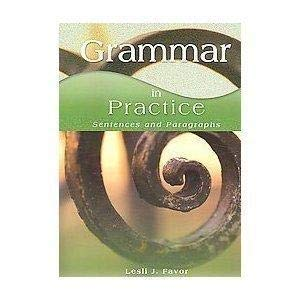 9781567651355: Grammar in Practice: Sentences and Paragraphs