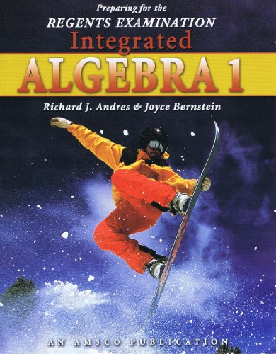 9781567655872: Preparing for the Regents Examination Integrated Algebra 1