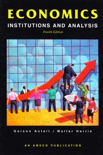 9781567656671: Economics: Institutions and Analysis