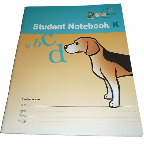 Fundations Student Notebook K (Fundations, #STNBKK): Wilson