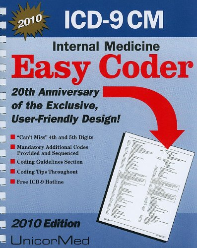 9781567811452: ICD-9-CM 2010 Easy Coder Internal Medicine