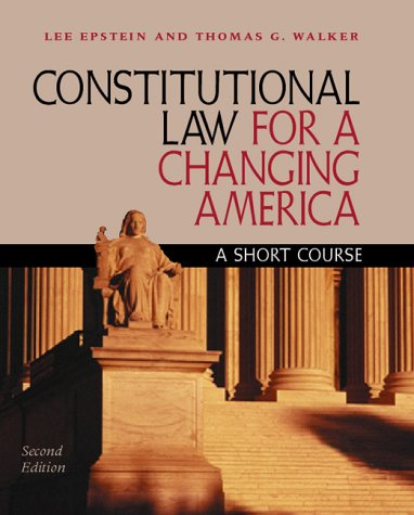 9781568024172: Constitutional Law for a Changing America: A Short Course