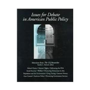 9781568024639: Issues for Debate in American Public Policy