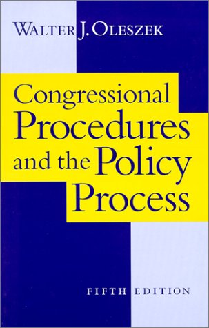 9781568024929: Congressional Procedures and the Policy Process