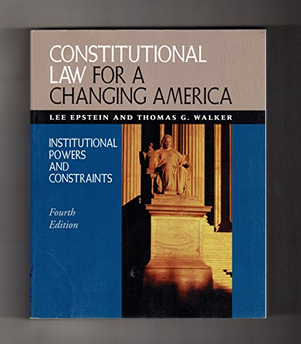 9781568025438: Constitutional Law for a Changing America: Institutional Powers and Constraints