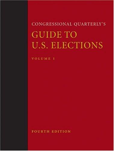 9781568026039: Congressional Quarterly's Guide to U.S. Elections