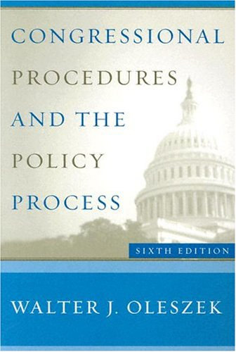 9781568028194: Congressional Procedures and the Policy Process (Congressional Procedures & the Policy Process)