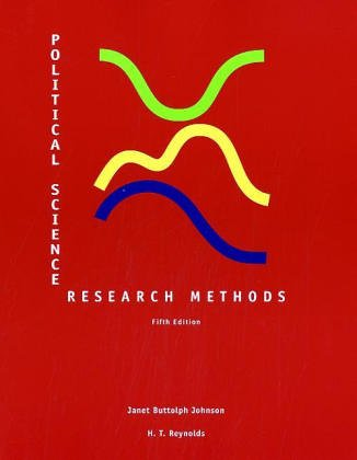 Political Science Research Methods: Janet Buttolph Johnson,