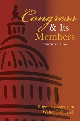 Congress And Its Members (Congress & Its: Roger H. Davidson,