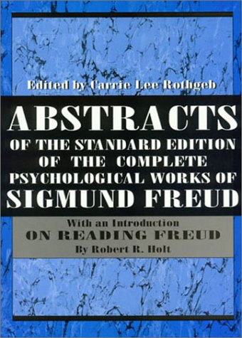9781568211404: Abstracts of the Standard Edition of the Complete Psychological Works of Sigmund Freud