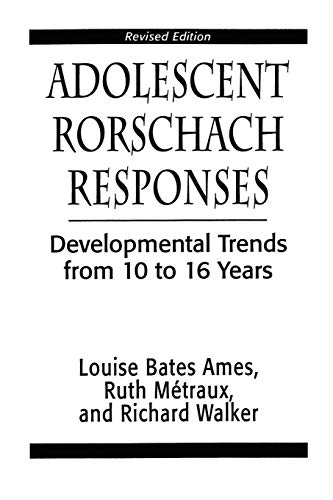 9781568214665: Adolescent Rorschach Responses: Developmental Trends from Ten to Sixteen Years (Master Work)