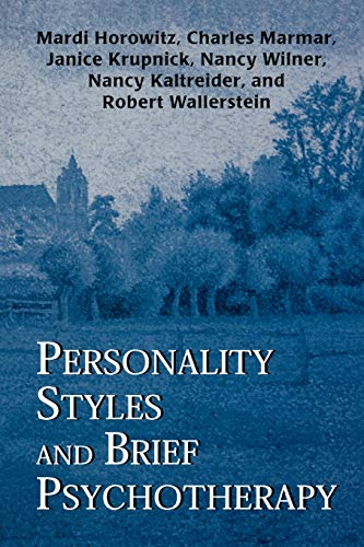 9781568218700: Personality Styles and Brief Psychotherapy (The Master Work Series)