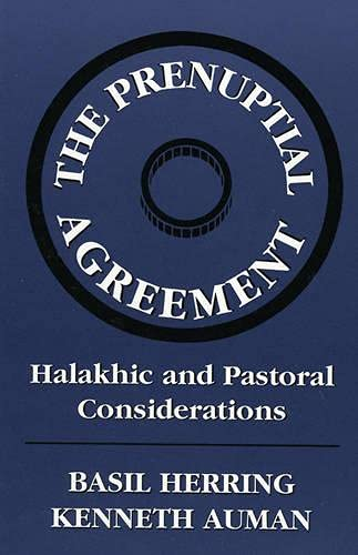 Prenuptial Agreement: Halakhic and Pastoral Considerations: n/a