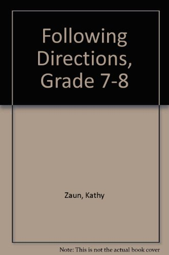 9781568221069: Following Directions, Grade 7-8