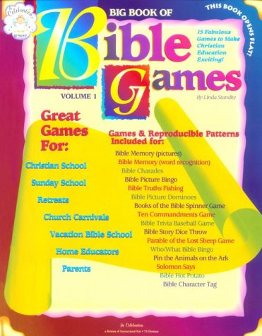 Big Book of Bible Games: Includes Bible Memory, Charades, Bingo, Dominos, Bible Spinner Games, ...